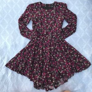 H&M long sleeve floral dress